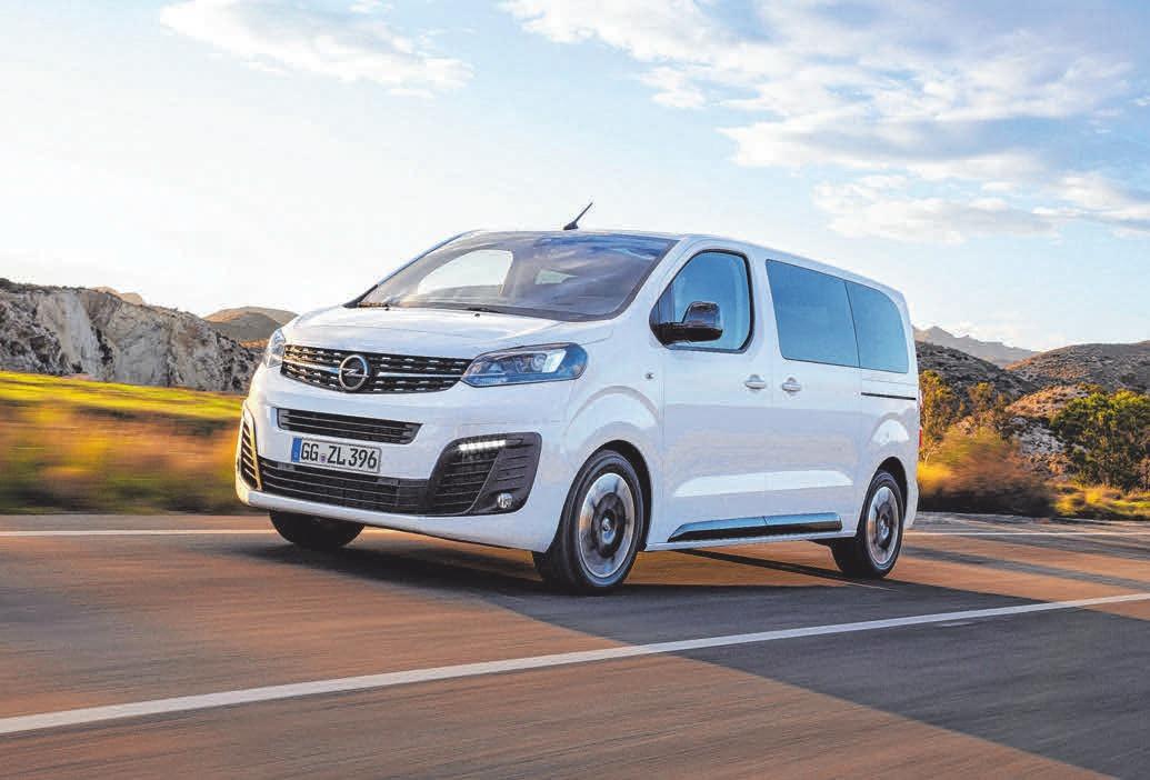 Der neue Opel Zafira Life. FOTO: OPEL