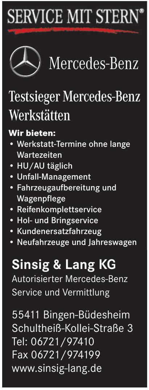 Sinsig & Lang KG