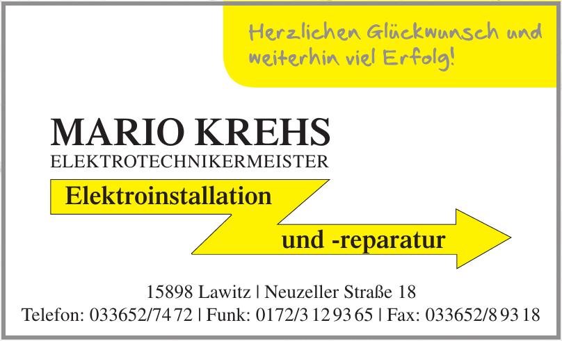Mario Krehs Elektrotechnikermeister