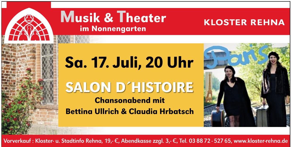 Musik & Theater im Nonnengarten Kloster Rehna