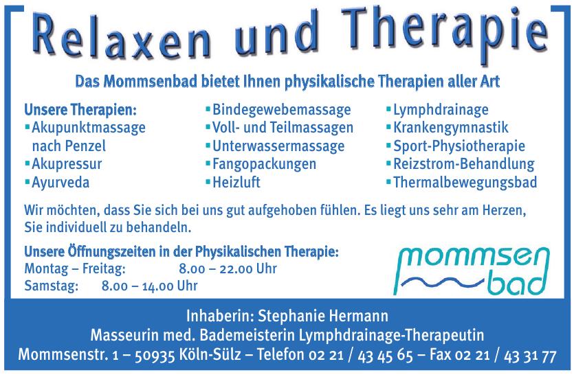 Stephanie Hermann - Masseurin, med. Bademeisterin, Lymphdrainage-Therapeutin