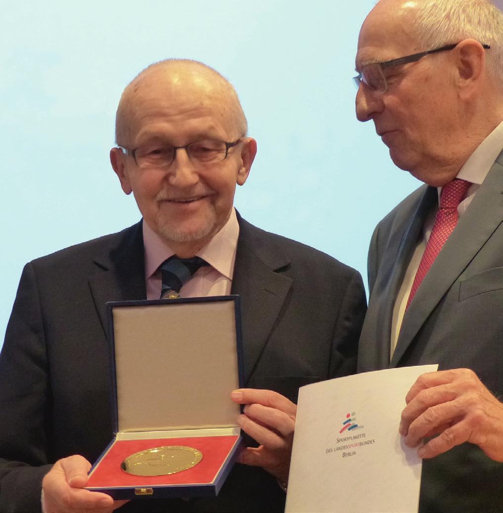 Verleihung der Goldenen Sportplakette an Horst Milde im Oktober 2018