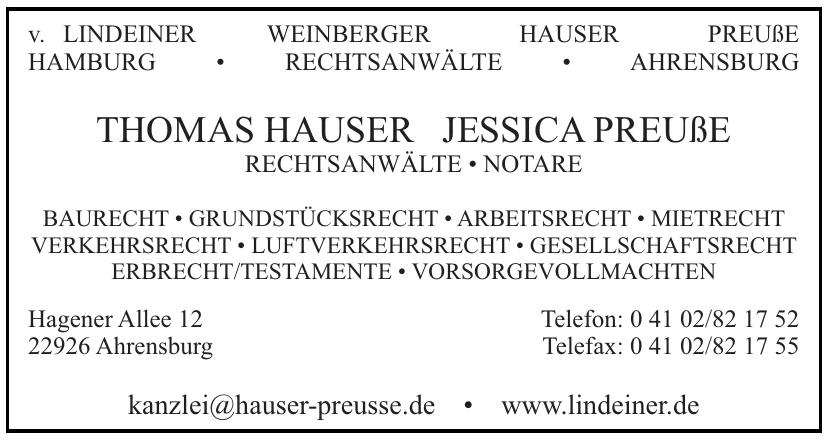 Thomas Hauser, Jessica Preuße, Rechtsanwälte - Notare