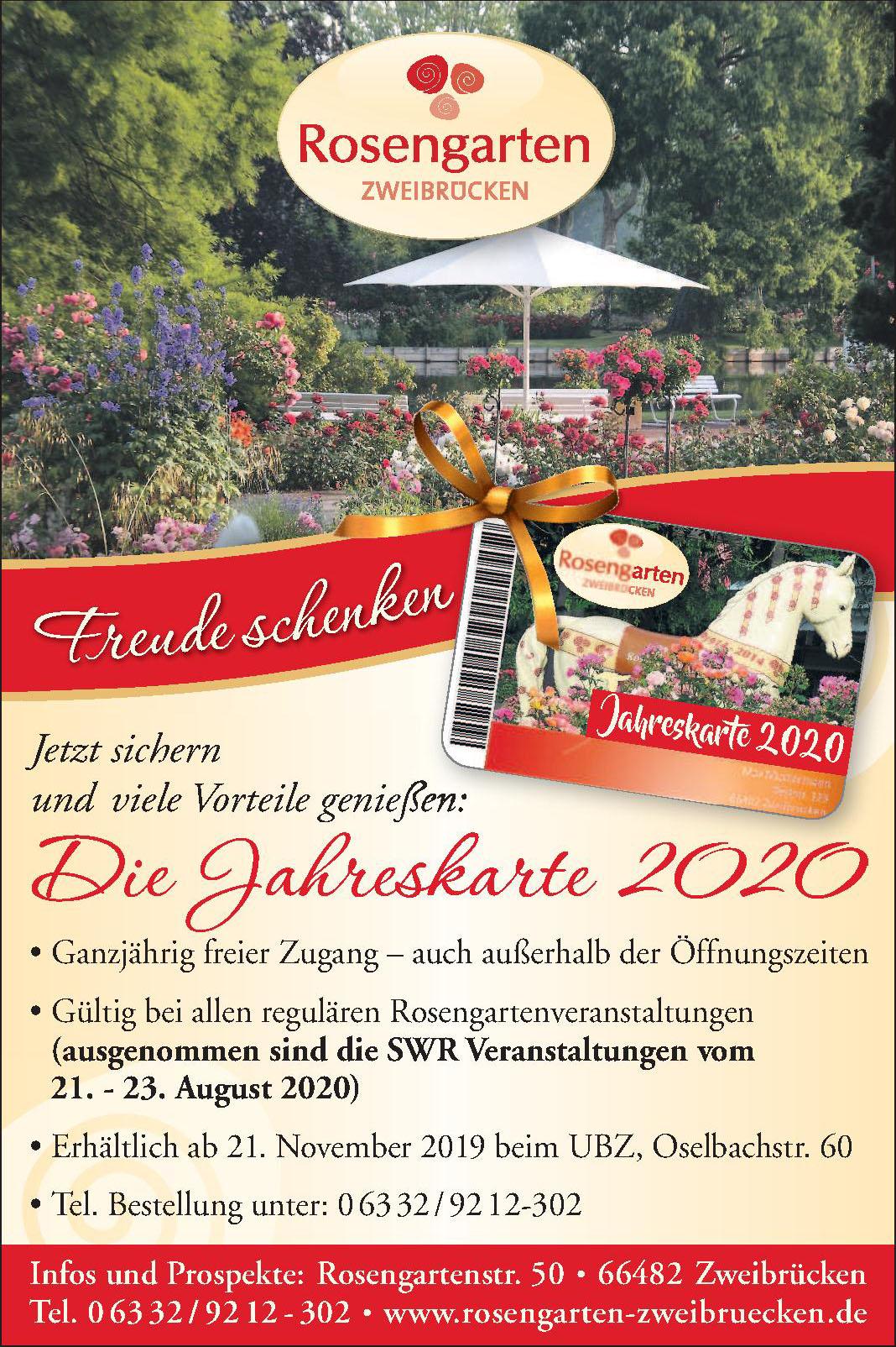 Rosengarten Zweibrücken