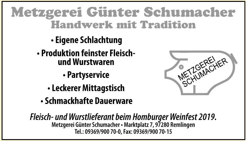 Metzgerei Günter Schumacher