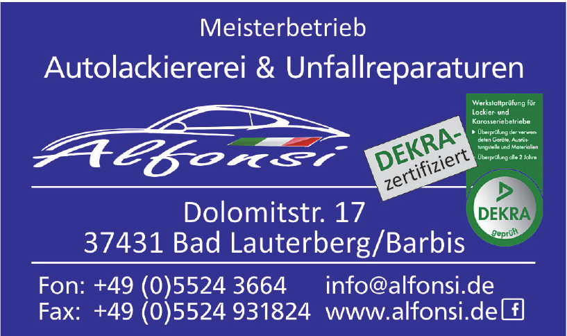 Alfonsi Meisterbetrieb Autolackiererei & Unfallreparaturen