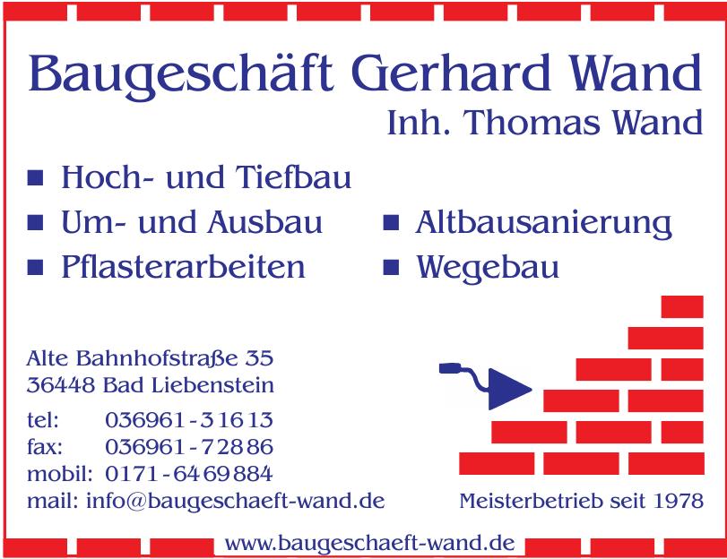 Baugeschäft Gerhard Wand