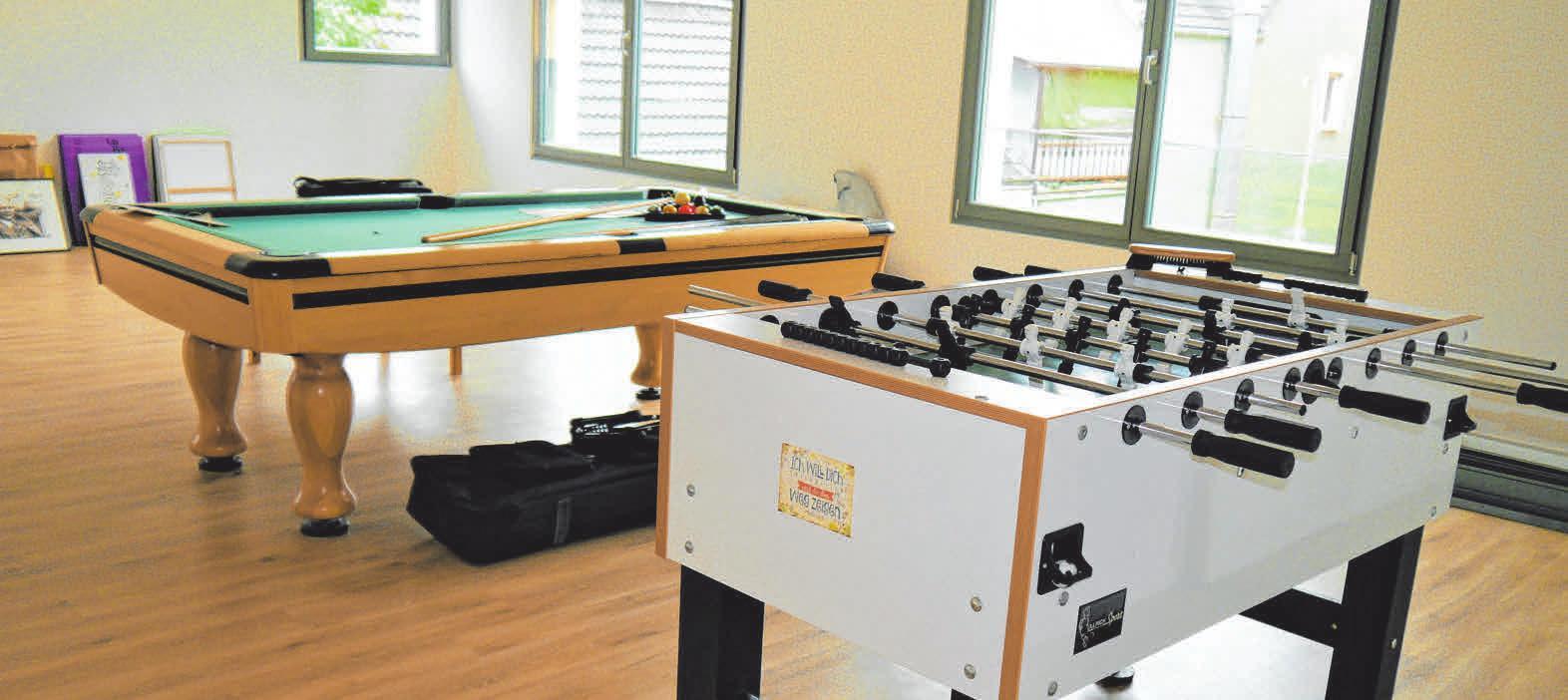 Im Obergeschoss befindet sich der Jugendraum, sowie ein weiterer teilbarer Raum für die Jugend- und die Gemeindearbeit. FOTOS: SILIVIA MÜLLER