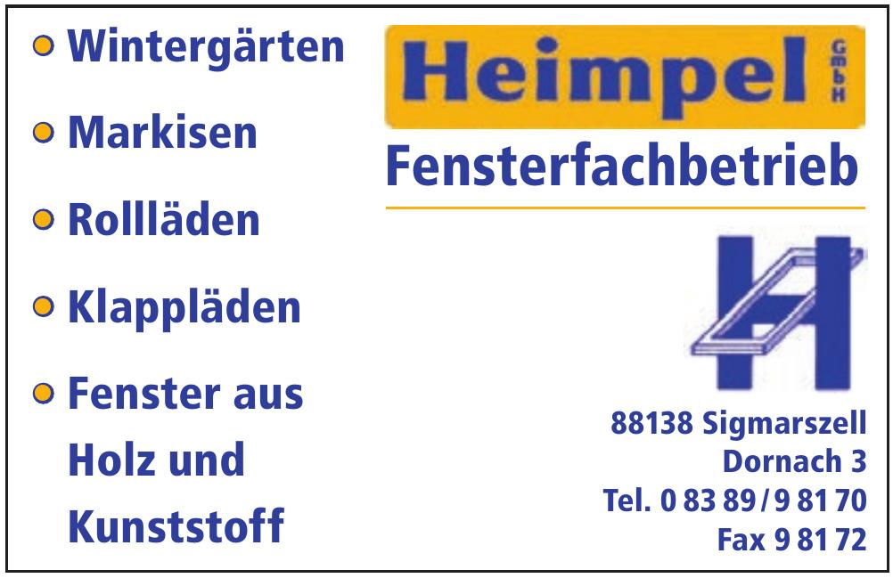 Heimpel GmbH Fensterfachbetrieb