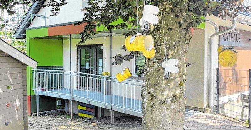 Die Kindertagesstätte ist im Eberstadter Rathaus untergebracht.