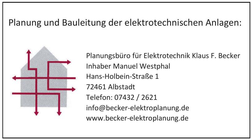Planungsbüro für Elektrotechnik Klaus F. Becker