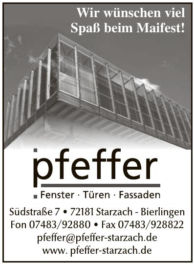 Pfeffer - Fenster, Türen, Fassaden