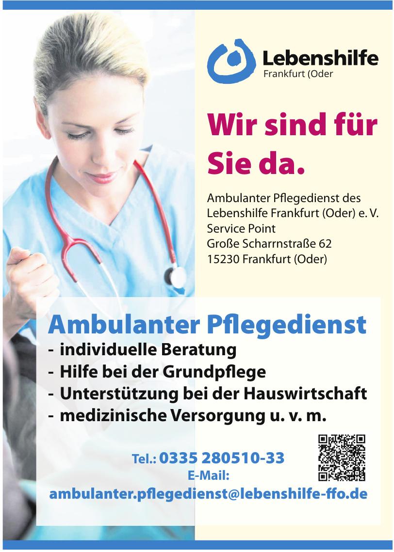 Ambulanter Pflegedienst des Lebenshilfe Frankfurt (Oder) e. V.