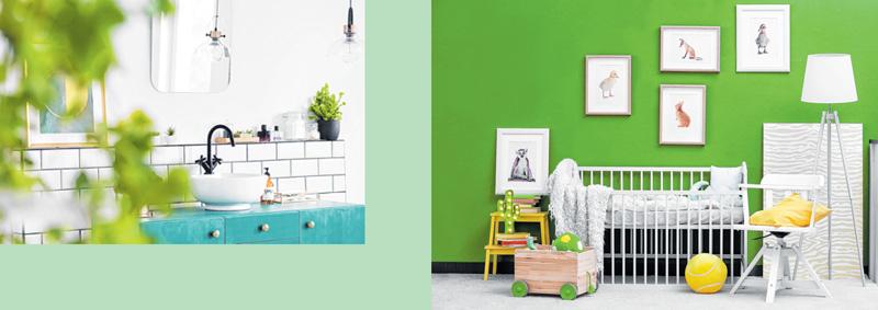 Grün sorgt für Frische und Natürlichkeit. FOTOS: ISTOCKPHOTO/BELCHONOCK/ KATARZYNABIALASIEWICZ