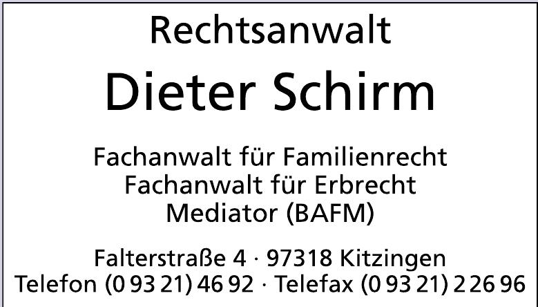 Rechtsanwalt Dieter Schirm