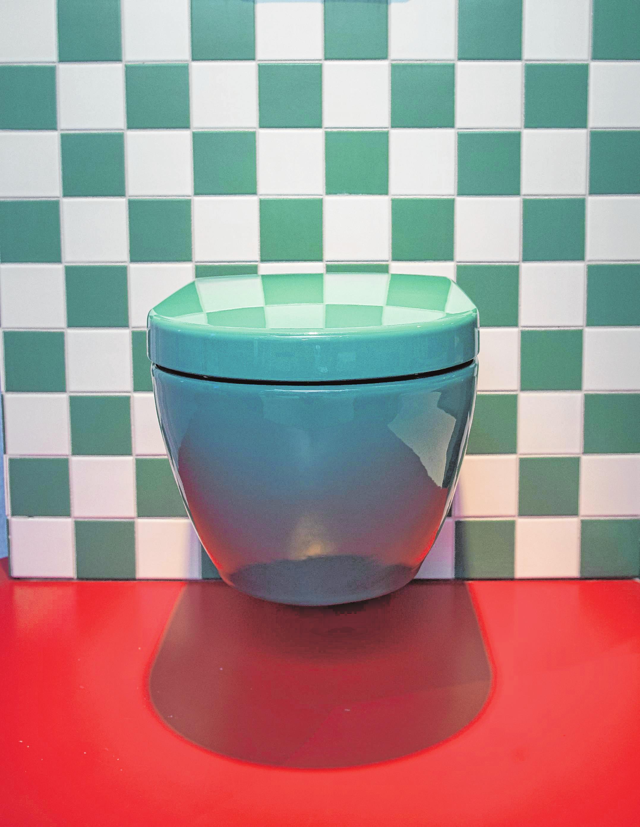 Knalleffekt: Villeroy & Boch hat eine grüne Toilette im Sortiment. Das Design stammt von Gesa Hansen.