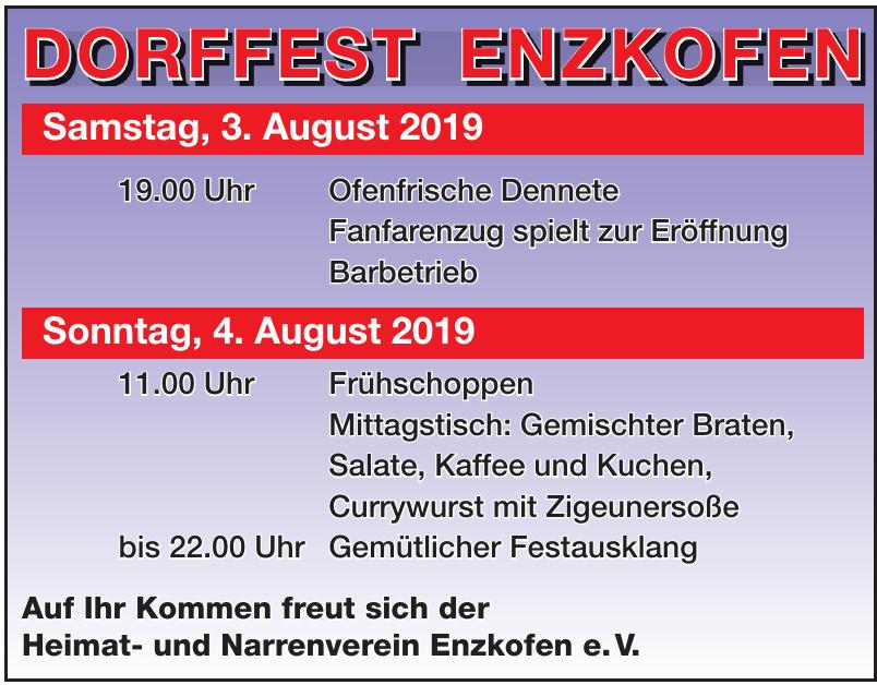 Dorffest Enzkofen