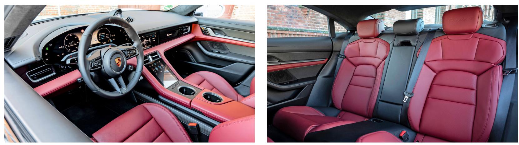 Im Taycan-Cockpit gibt es kaum noch klassische Knöpfe und Schalter, stattdessen eine voll digitale Bedienlandschaft. Fotos: Porsche