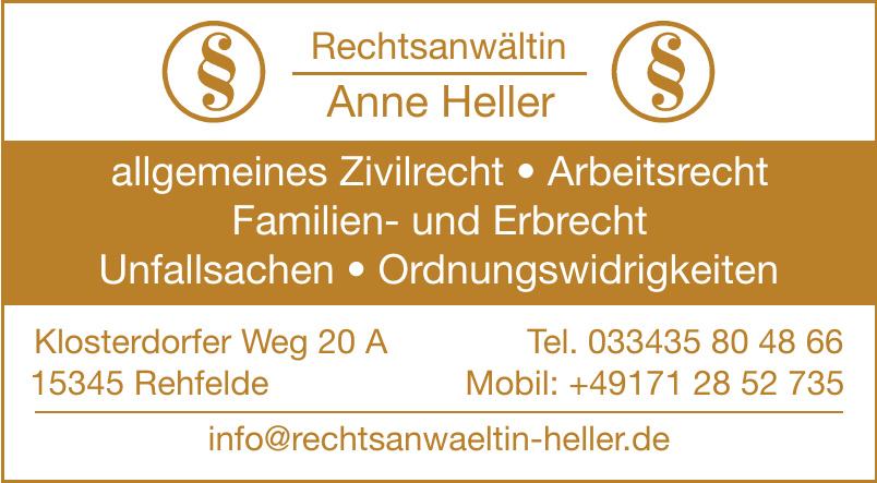 Rechtsanwältin Anne Heller