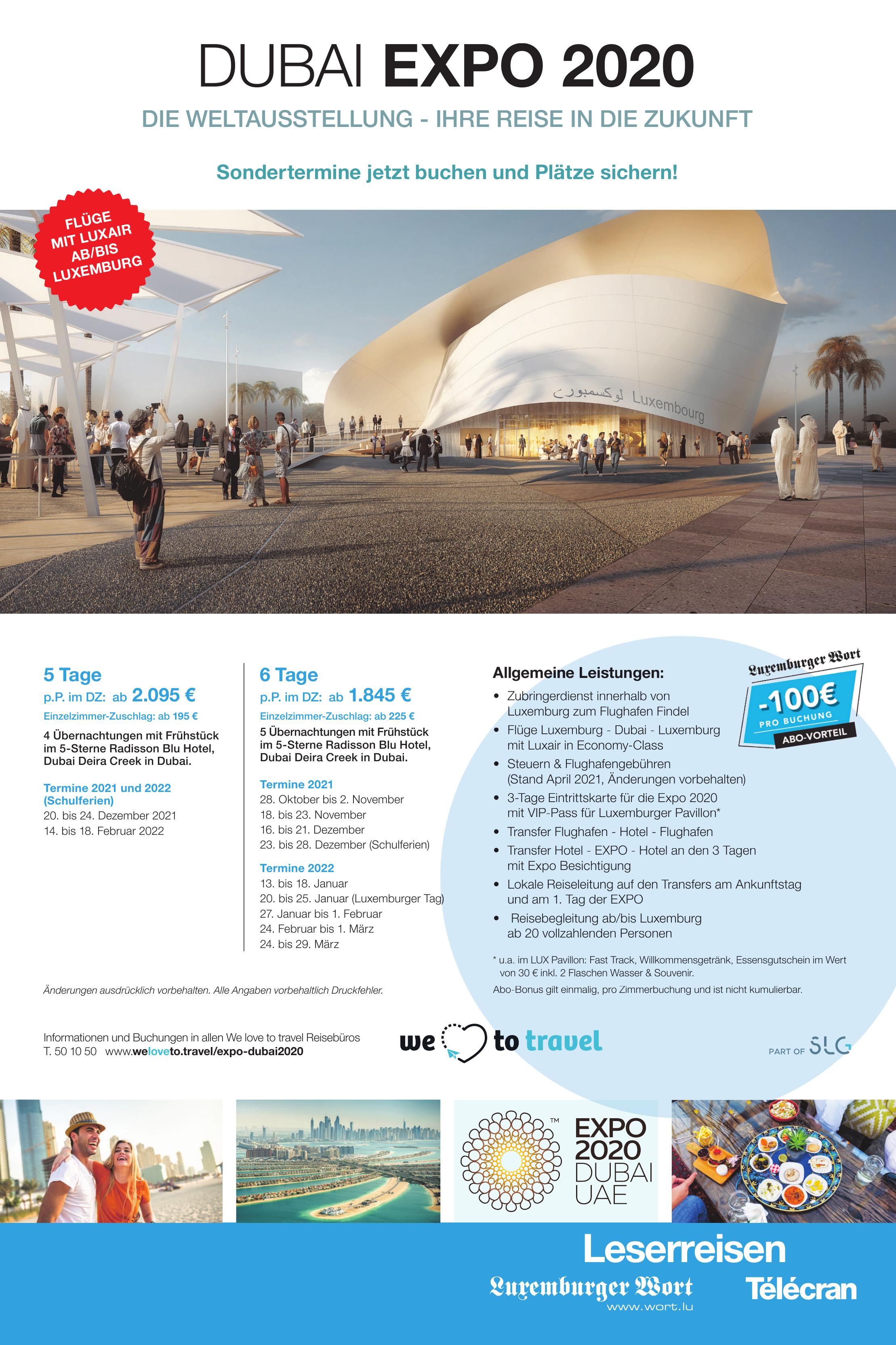 We love to travel - Dubai EXPO 2020