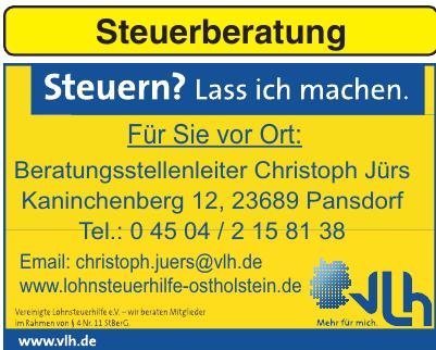 VLH-Vereinigte Lohnsteuerhilfe e.V.-Christoph Jürs