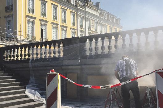 An vielen Stellen wird am Schloss Augustusburg fleißig gewerkelt Bild: Kämpf