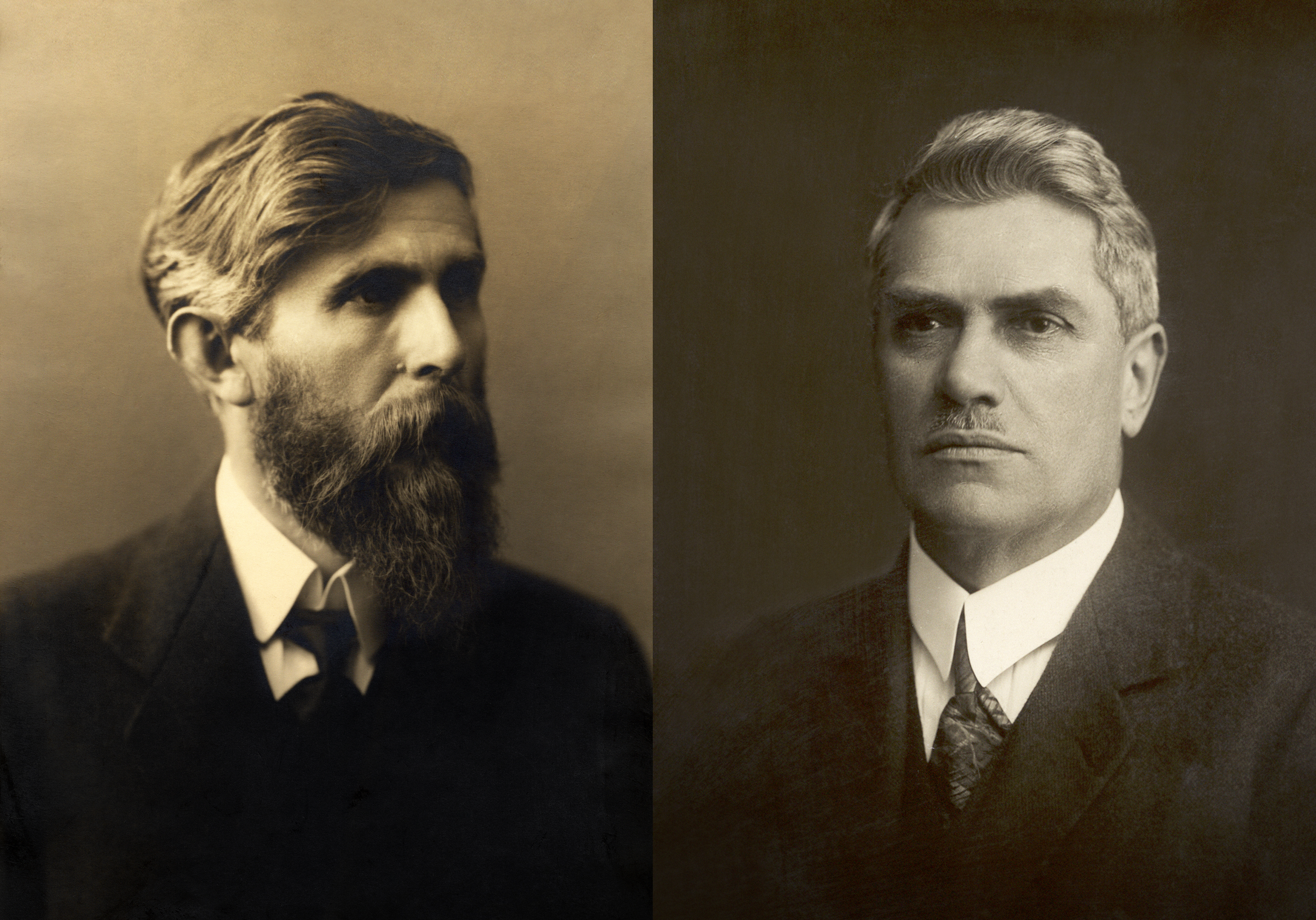 1895 gründeten der Buchhändler Václav Klement (li) und der Mechaniker Václav Laurin die Firma Laurin & Klement und legten damit den Grundstein für das heutige Unternehmen Škoda Auto. FOTO: ŠKODA AUTO