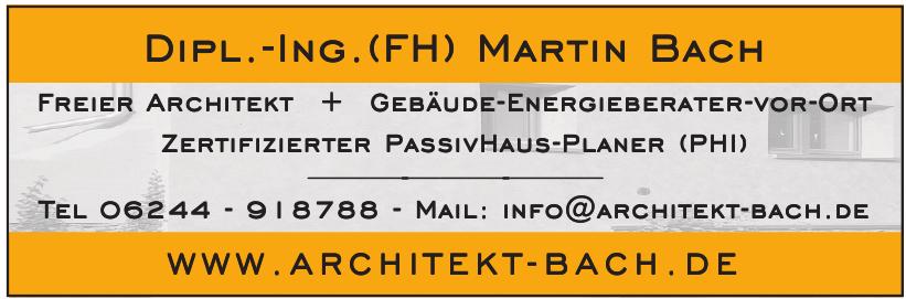 Architekt Martin Bach