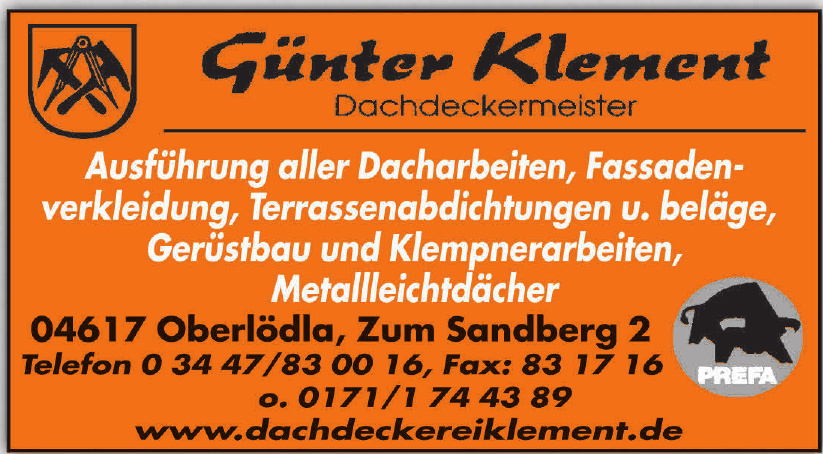 Günter Klement Dachdeckermeister