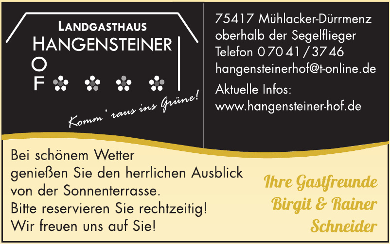 Landgasthaus Hangensteiner