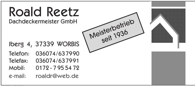 Roald Reetz Dachdeckermeister GmbH