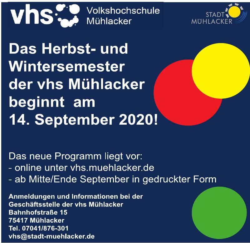 vhs - Volkshochschule Mühlacker