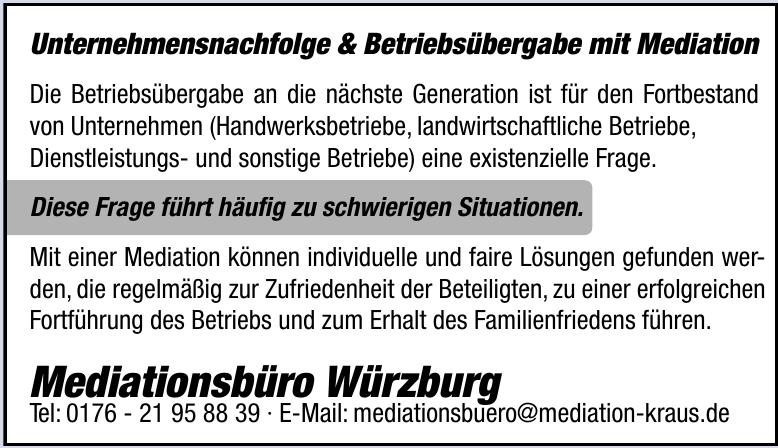 Mediationsbüro Würzburg