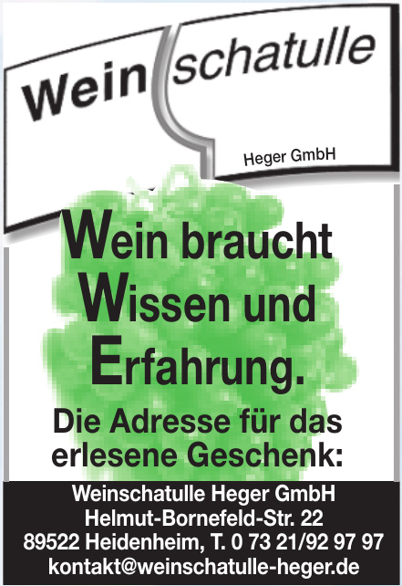 Weinschatulle Heger GmbH