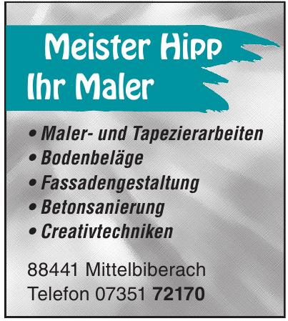 Meister Hipp Ihr Maler