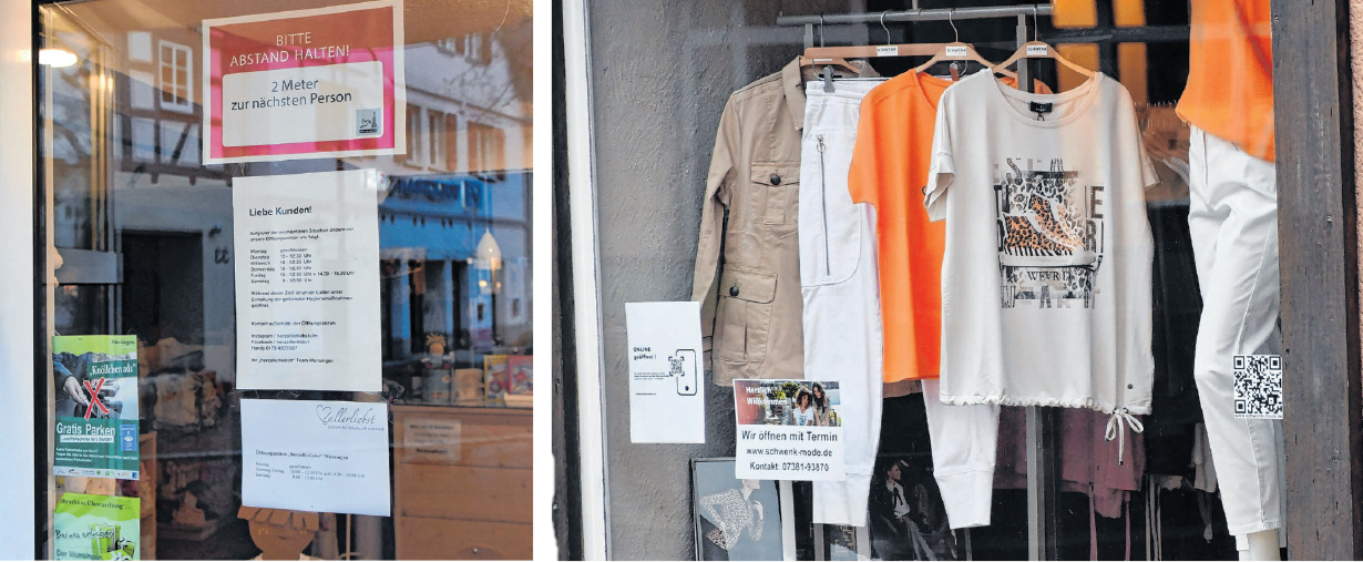 Bei der Öffnung der Geschäfte müssen die Vorgaben hinsichtlich der maimalen Kundenanzahl beachtet werden. FOTO: ROT