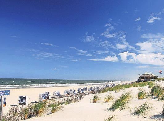 Den Strand bei Kampen ohne Touristenmassen genießen.