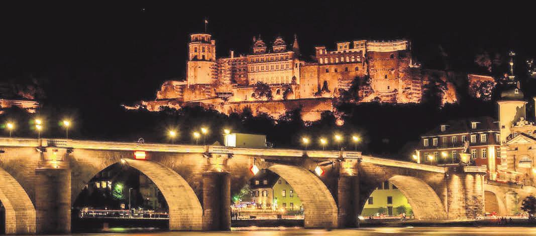 Weltberühmt: Das Heidelberger Schloss hoch über dem Neckar.