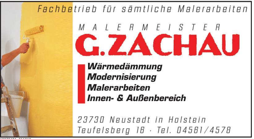 Malermeister G. Zachau