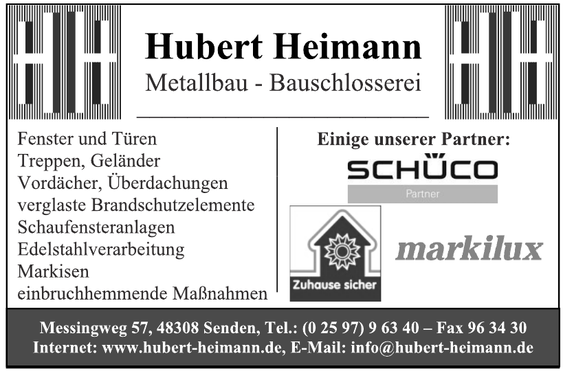 Hubert Heimann Metallbau - Bauschlossere