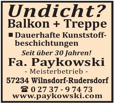 Fa. Paykowski Meisterbetrieb  Balkonsanierung