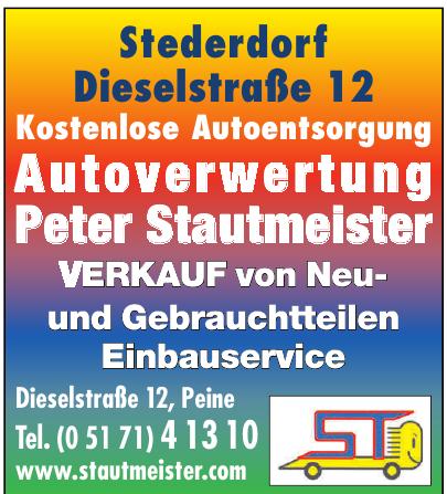 Autoverwertung Peter Stautmeister