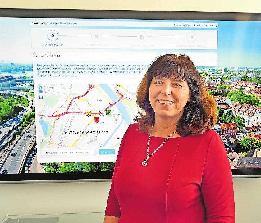 Hat die Stadt im Blick: Oberbürgermeisterin Jutta Steinruck. ARCHIVFOTO: KUNZ