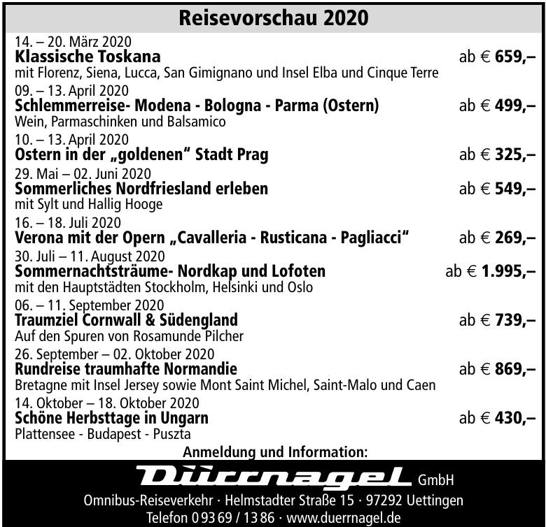 Dürrnagel GmbH Omnibus-Reiseverkehr