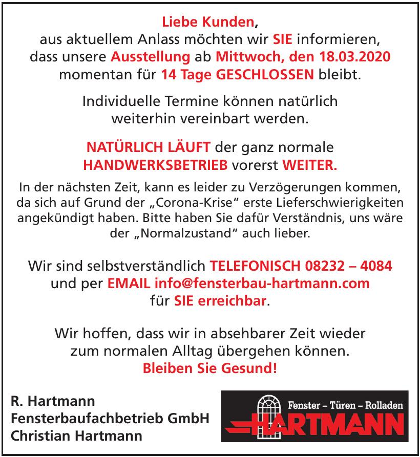 R. Hartmann Fensterbaufachbetrieb GmbH