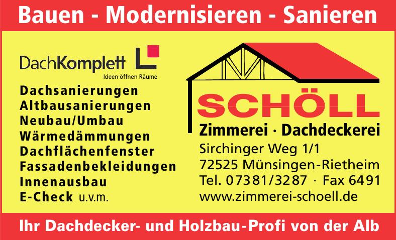 Schöll - Zimmerei - Dachdeckerei