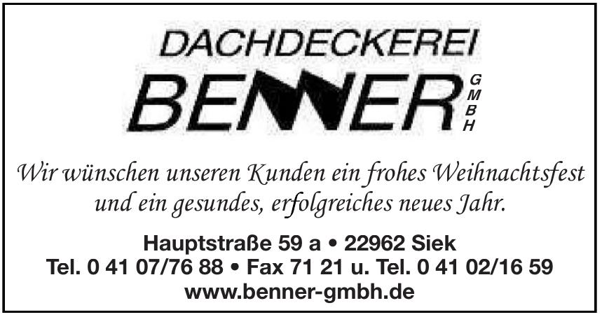 Dachdeckerei Benner GmbH