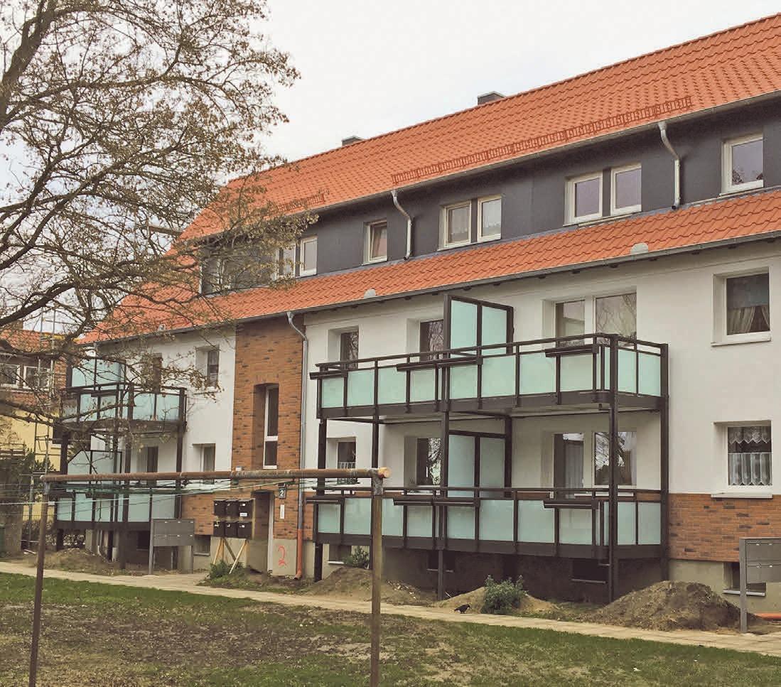 Der modernisierte Wohnkomplex an der Duttenstedter Straße 2+4 bietet ein Plus an Wohnqualität. Foto: privat