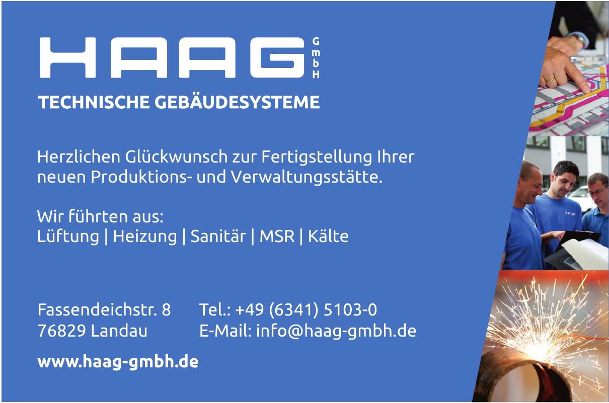 Haag GmbH Technische Gebäudesysteme