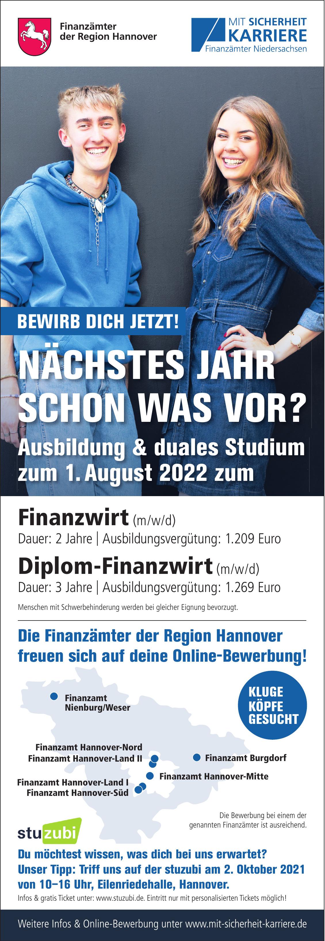 Finanzämter der Region Hannover